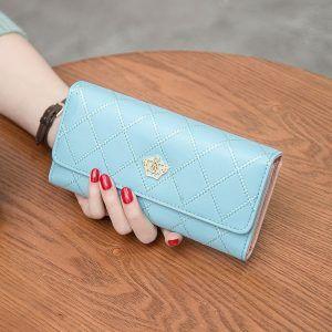 billeteras de color azul