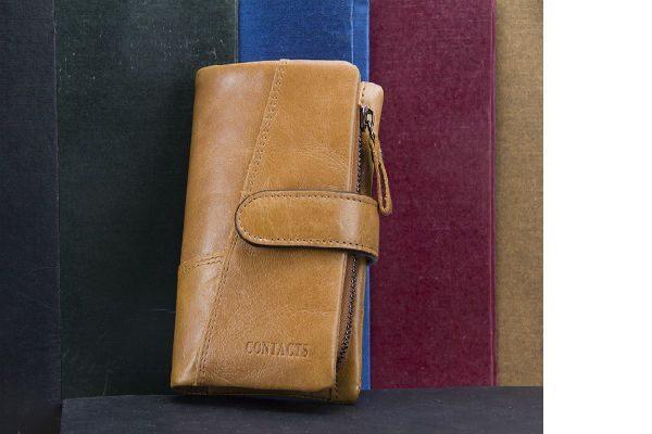 billetera de cuero