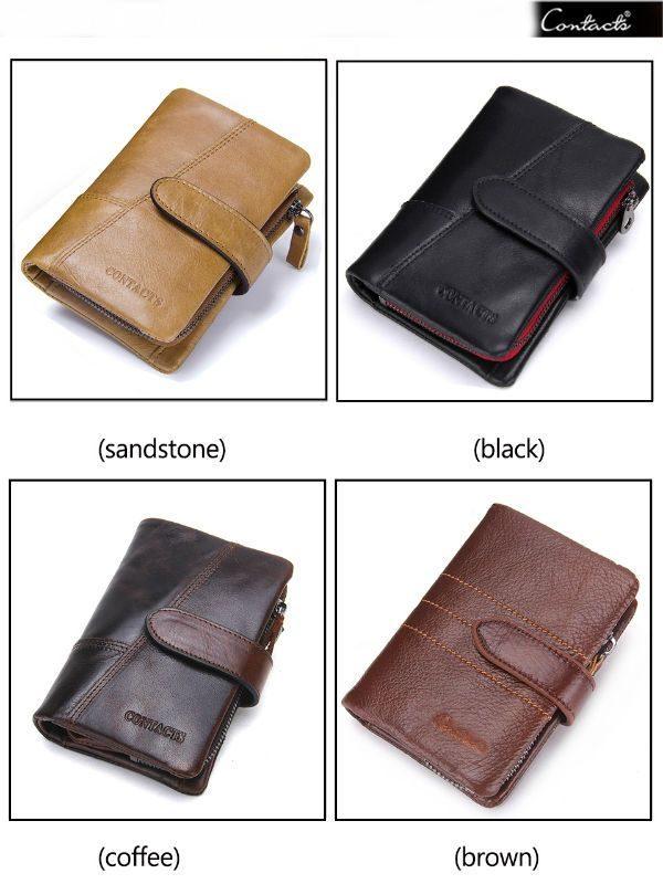billetera de cuero para hombre marca contacts storebapp