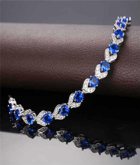 pulsera color azul para mujer