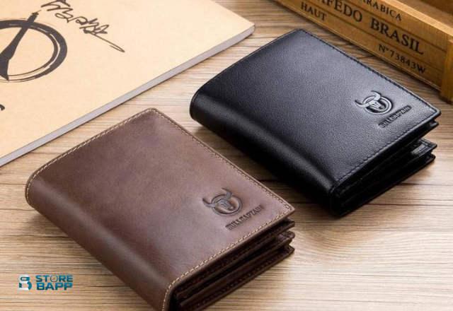 modelos de billeteras de cuero